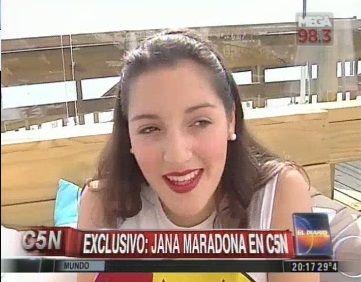 Jana Maradona habló por primera vez: su relación con Diego; sus hermanas Dalma y Gianinna; y los tatuajes