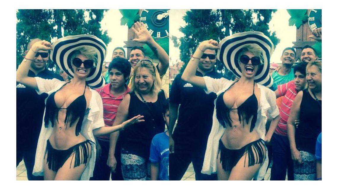 La anormal cintura de Vicky Xipolitakis: le falló el photoshop o no tiene costillas