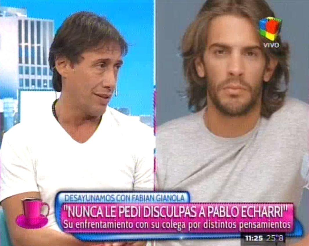 Gianola habló de su enfrentamiento con Echarri: Yo nunca le pedí disculpas