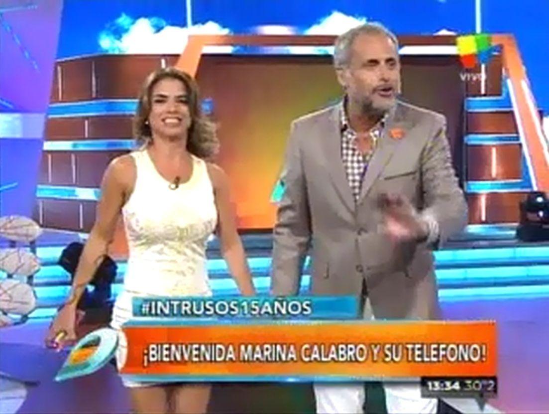Marina Calabró se incorporó a Intrusos: así fue su encuentro con Rial