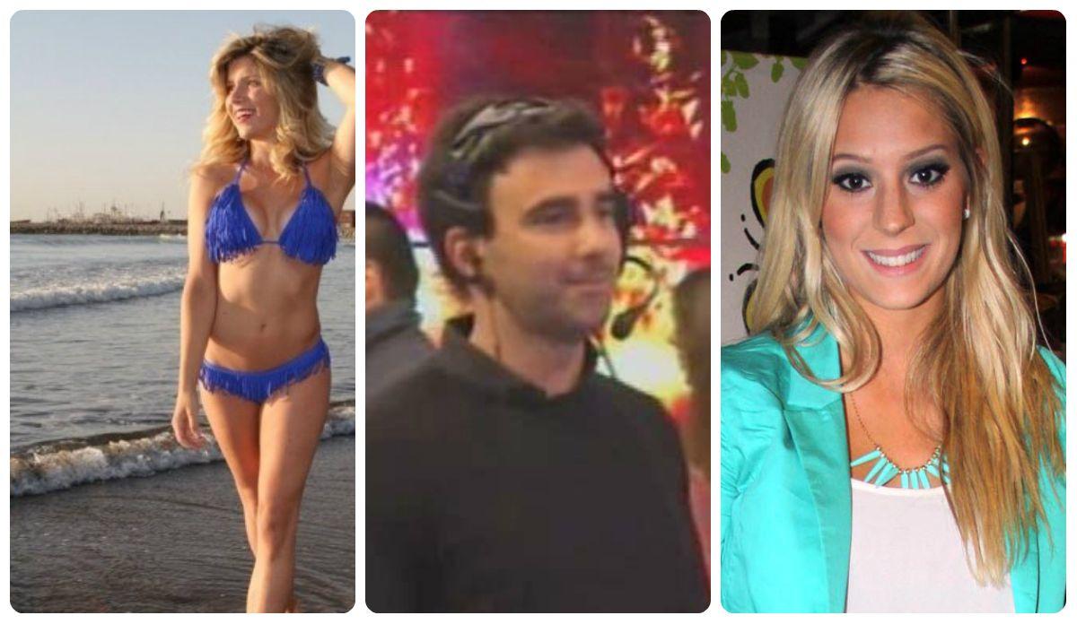 El productor de Tinelli, Fede Hoppe, entre Laurita Fernández y Noelia Marzol
