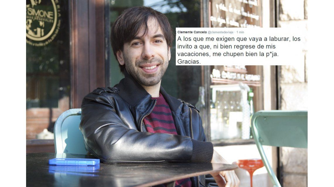 El violento tuit de Clemente Cancela, ex notero de CQC: Que me chupen bien la p...