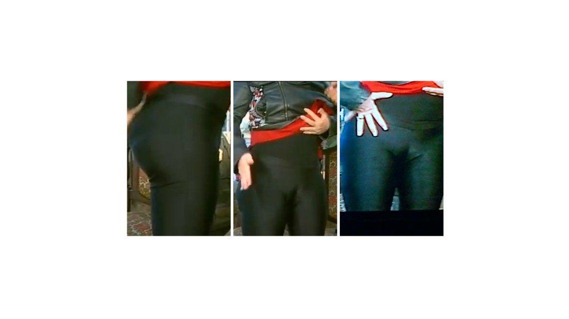 La foto de la que habló el país: la calza de Carmen Barbieri