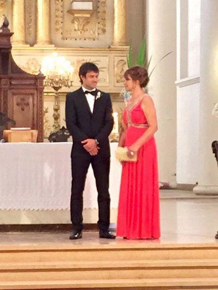 Así fue el casamiento por Iglesia de Chechu Bonelli y Darío Cvitanich