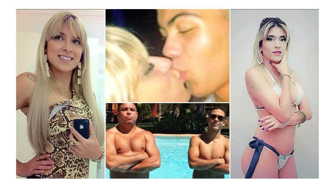 El hijo del futbolista Ronaldo, de 14 años, a los besos con una profesora hot de 27