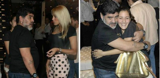 ¿Su preferida? Diego Maradona eligió a Jana para celebrar el Día del Padre: asado y picada en Devoto