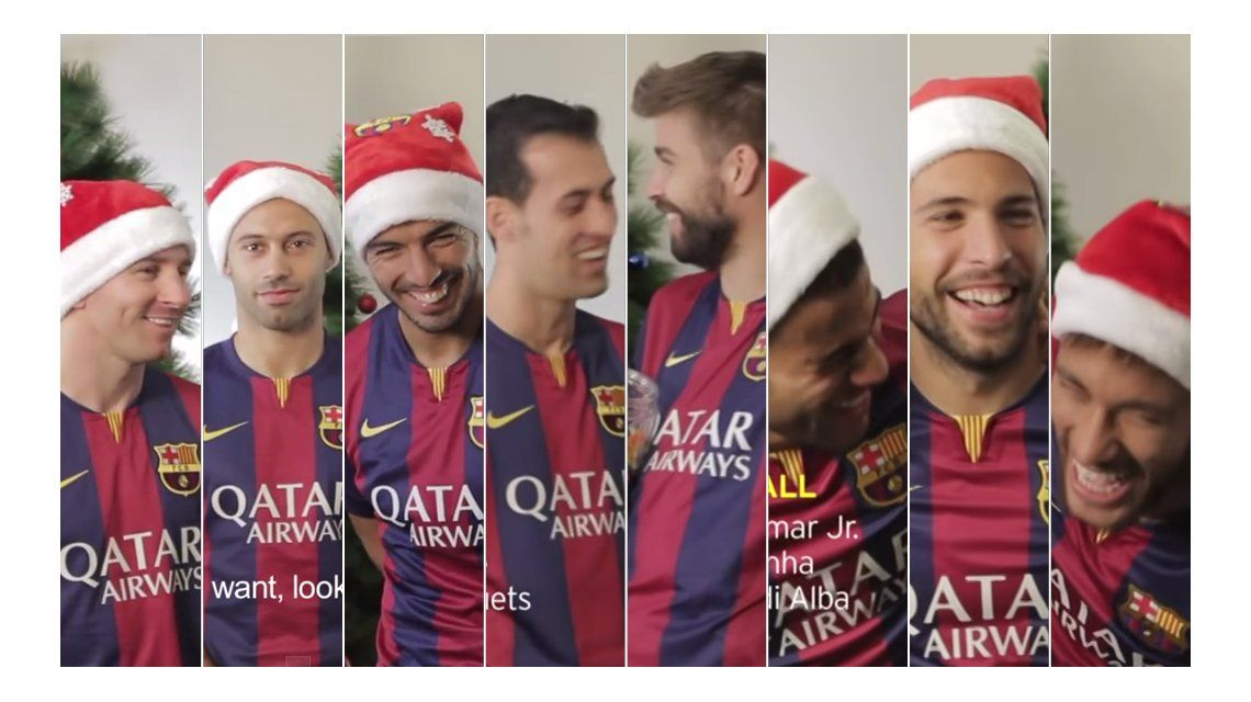 Los imperdibles bloppers de Messi y los jugadores de Barcelona para las Fiestas