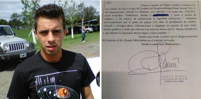 Matías Defederico quiere frenar el escándalo de los SMS y envía bozal legal a los medios