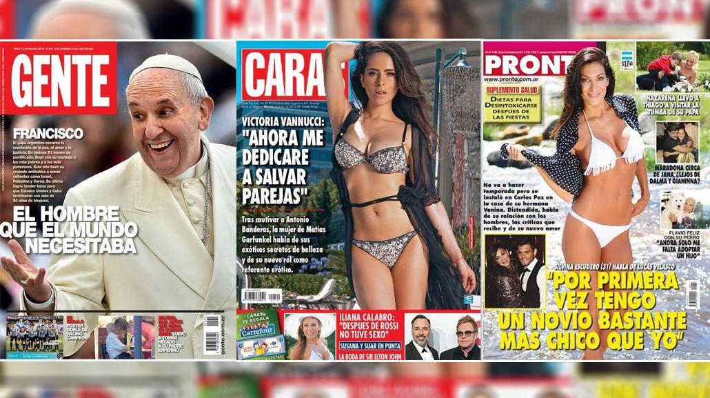 El año del Papa Francisco; Victoria Vannucci, referente erótico; y las confesiones de Silvina Escudero