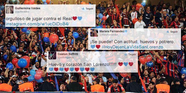 Así siguieron los famosos la final entre San Lorenzo y el Real Madrid