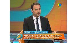 El descargo de Adrián Pallares sobre su pelea con el Teto Medina