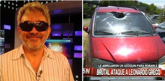 Así quedó Leonardo Greco después del brutal ataque: Manejé 150 metros a ciegas