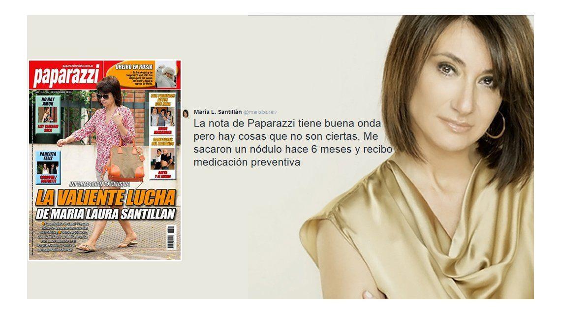 María Laura Santillán, íntima: Me sacaron un nódulo hace seis meses