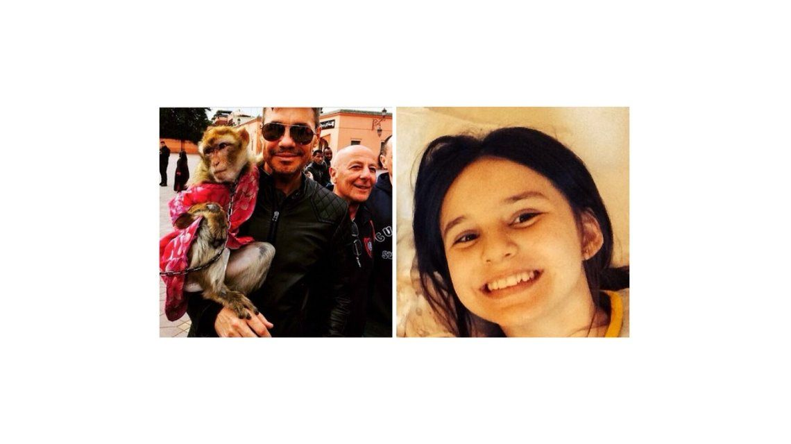 Marcelo Tinelli se sacó una foto con un mono y su hija Juana le dijo: Es muy triste esa foto, pa
