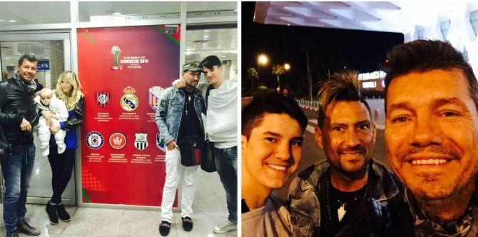 Marcelo Tinelli y su familia ya están en Marruecos para alentar a San Lorenzo