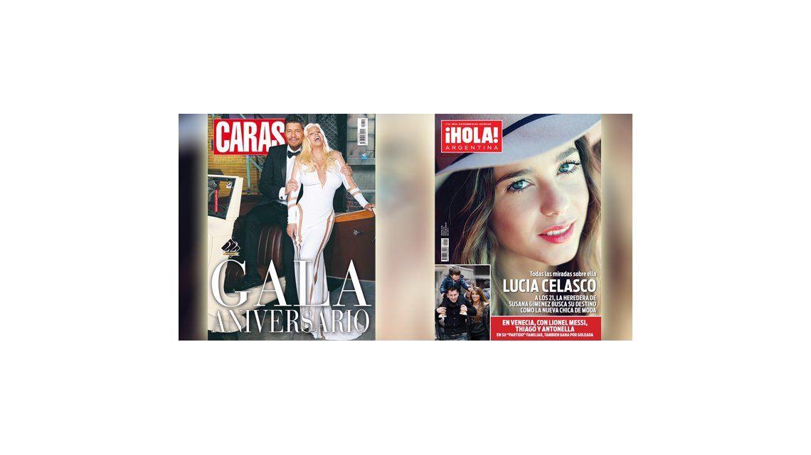 Susana es tapa de una revista con Tinelli: su nieta Lucía Celasco, también