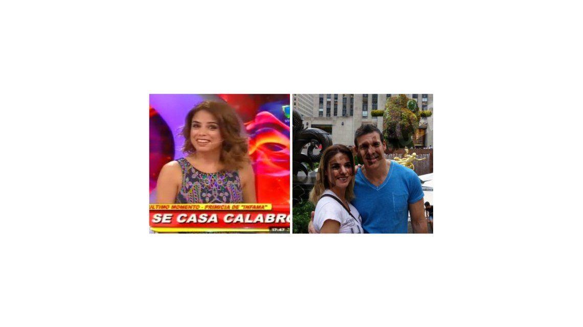 Santiago del Moro anunció el casamiento de Marina Calabró: la reacción de la panelista