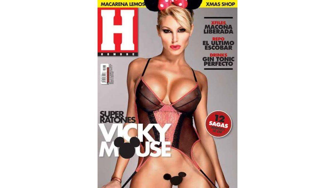 Vicky Xipolitakis cumplió su fantasía: realizó una producción hot como la novia de Mickey Mouse