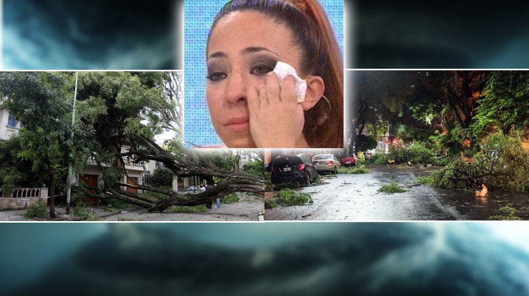 Noelia Pompa, víctima del temporal: Su casa quedó destrozada