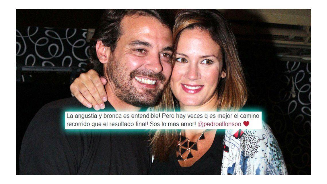 El mensaje de apoyo de Paula Chaves a Pedro tras su eliminación del Bailando
