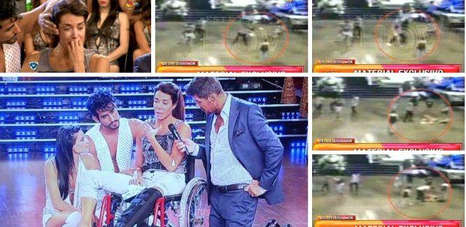 Así fue la caída de Laura Fidalgo que la dejó afuera de la final del Bailando