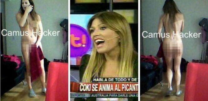 Coki Ramírez reveló qué estaba haciendo cuando la filmaron desnuda en el living de su casa