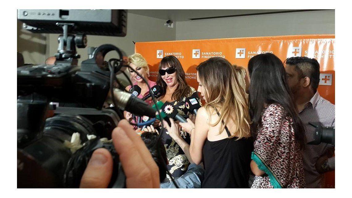 Moria Casán anunció el nacimiento de su segundo nieto en conferencia de prensa