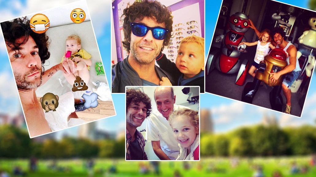 La nueva vida de Mariano Martínez como padre soltero: divertidas selfies con Olivia y Milo