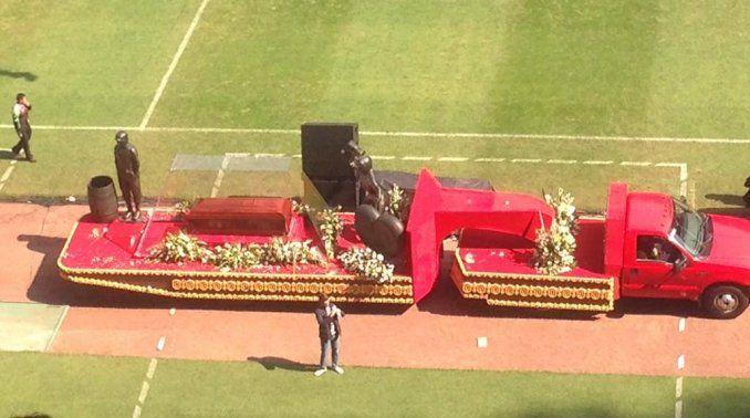 El adiós a Chespirito en el estadio Azteca
