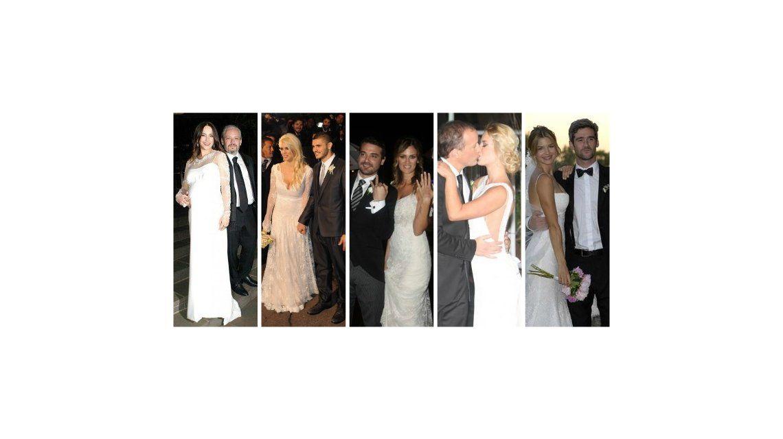 El ranking de los casamientos de los famosos