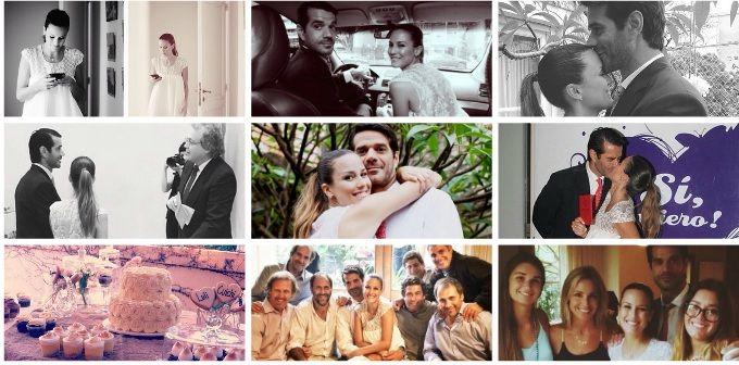 El álbum de fotos del casamiento Luli Fernández