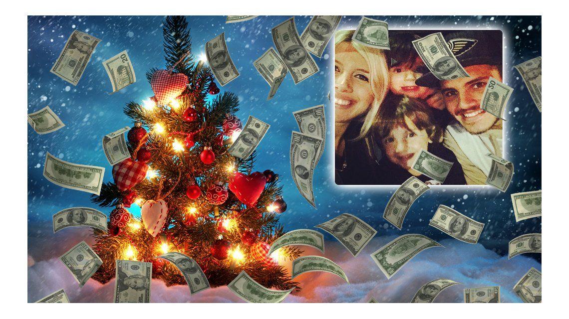Billetera humana: la millonaria Navidad de Icardi y los hijos de Wanda