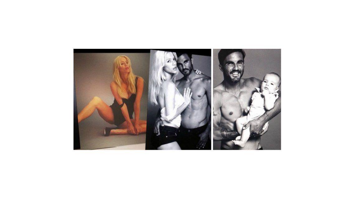 Nicole y Poroto Cubero, una pareja sexy: posaron con su tercera hija, Sienna