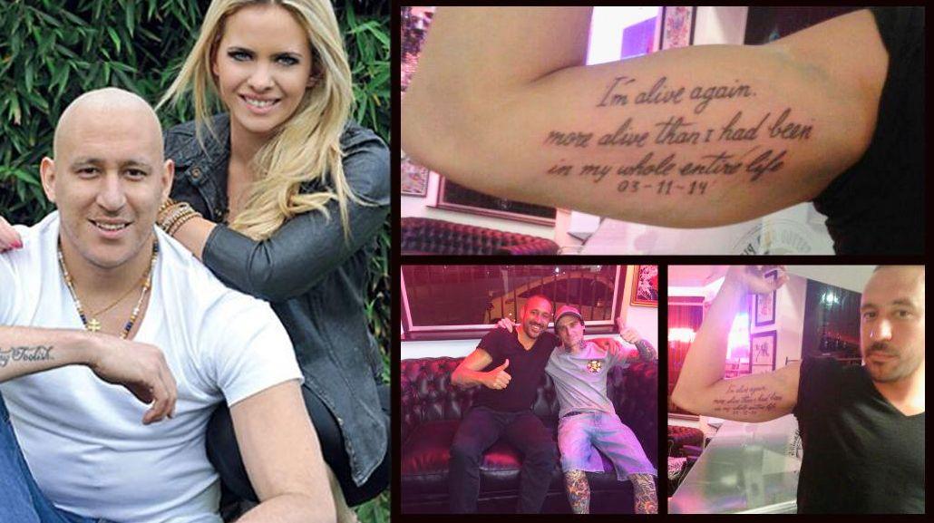 El tatuaje de Jonás Gutiérrez, novio de Alejandra Maglietti, tras vencer al cáncer