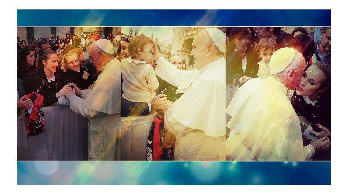 Con fecha confirmada para su casamiento, el Papa bendijo a Chechu Bonelli y Darío Cvitanich