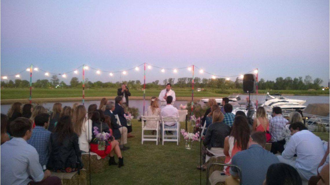 Las fotos íntimas del casamiento de Marcela Kloosterboer y Fernando Sieling