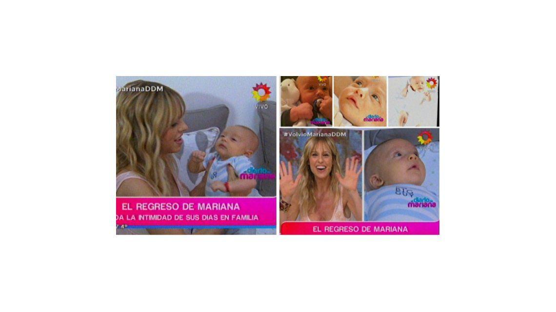 Mariana Fabbiani habló de la maternidad y su vuelta a la tele: Con Máximo trabajamos juntos y en los cortes le doy la teta