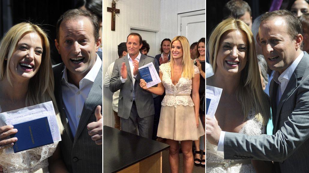 Se casaron por civil Jésica Cirio y Martín Insaurralde: Estamos muy felices