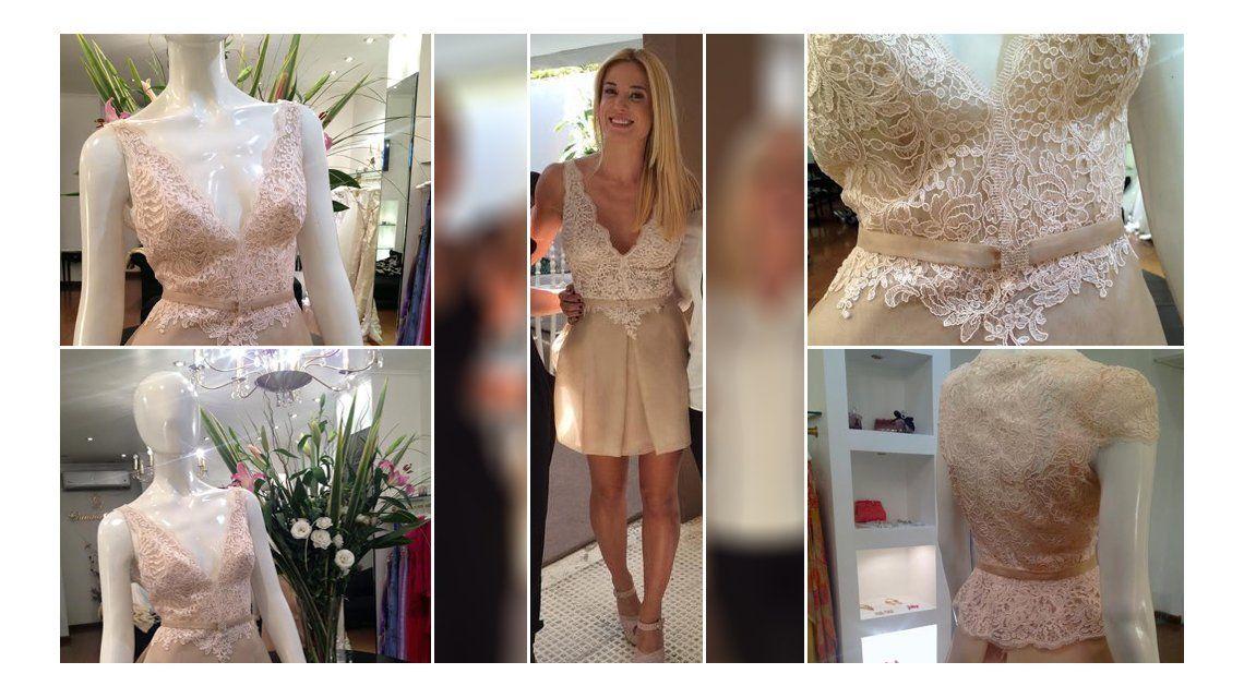 El provocativo vestido que eligió Jésica Cirio para su casamiento por civil con Insaurralde