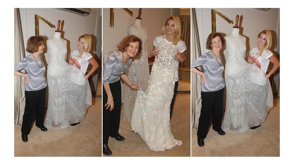 Jésica Cirio no le teme a la mala suerte: mostró su vestido de novia a días de su casamiento con Insaurralde