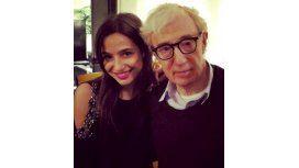 El insólito encuentro de Brenda Asnicar y Woody Allen en Nueva York