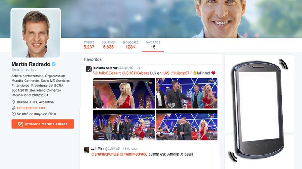 Martín Redrado, entre Amalia Granata y Luciana Salazar: Qué esconden su celular y su cuenta de Twitter