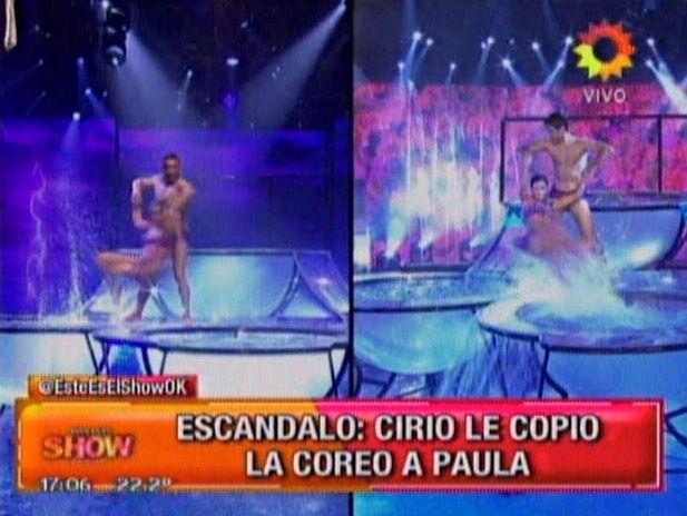 Jésica Cirio, acusada de plagiar el aquadance de Paula Chaves