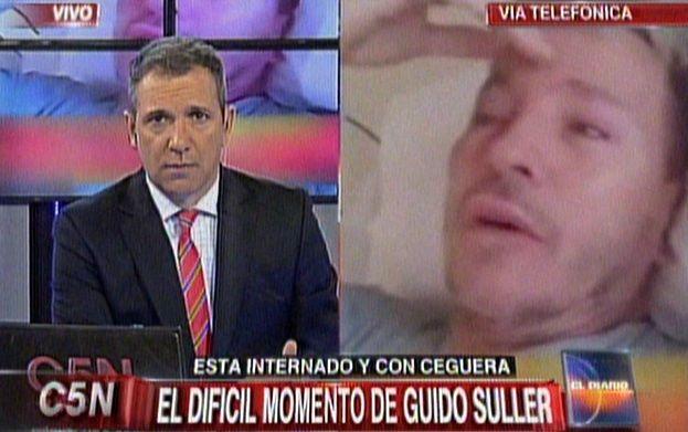 El drama de Guido Süller: Es feo no poder ver, dijo desde el hospital