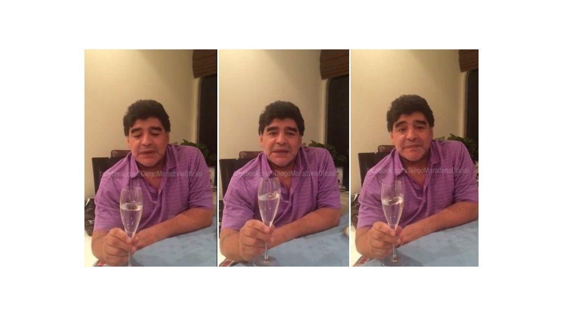 Maradona habló y nombró a todos sus hijos menos a uno: El alma está intacta