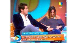 Andino y su mujer Carolina Pratt, embarazados: ella mostró la pancita