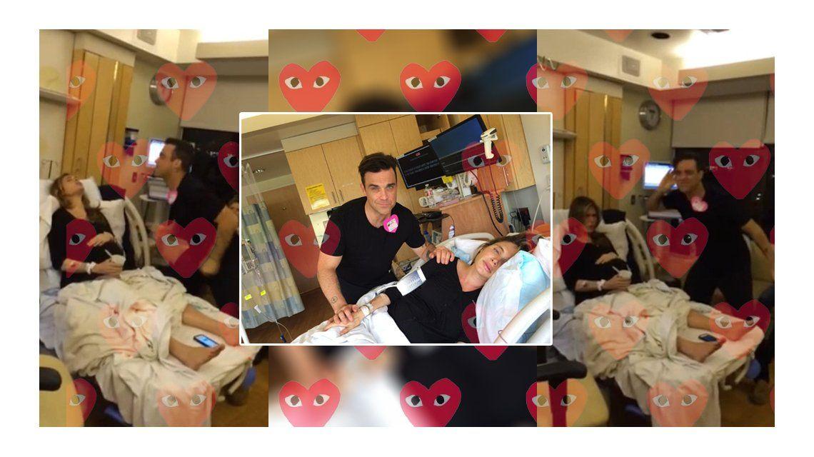 Robbie Williams cantó y bailó durante el parto de su mujer y ¡lo tuiteó en vivo!
