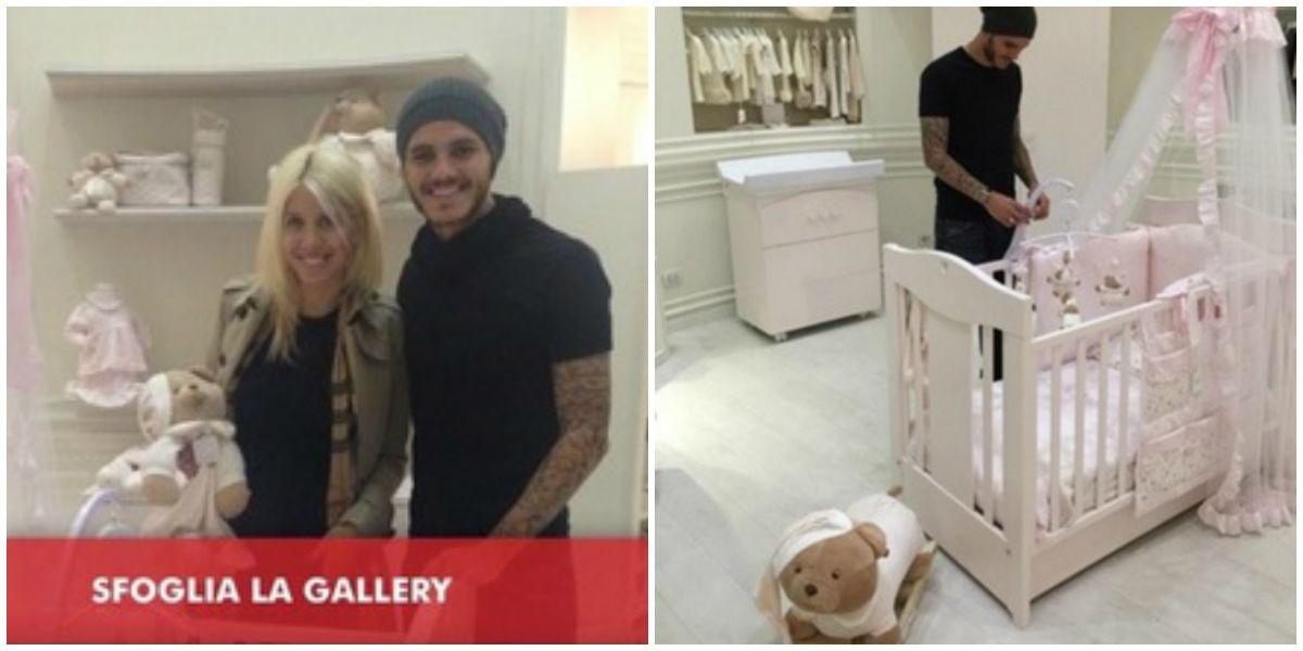 Se sacan fotos comprando los muebles para el cuarto de su futura hija: Wanda e Icardi ostentan sin parar
