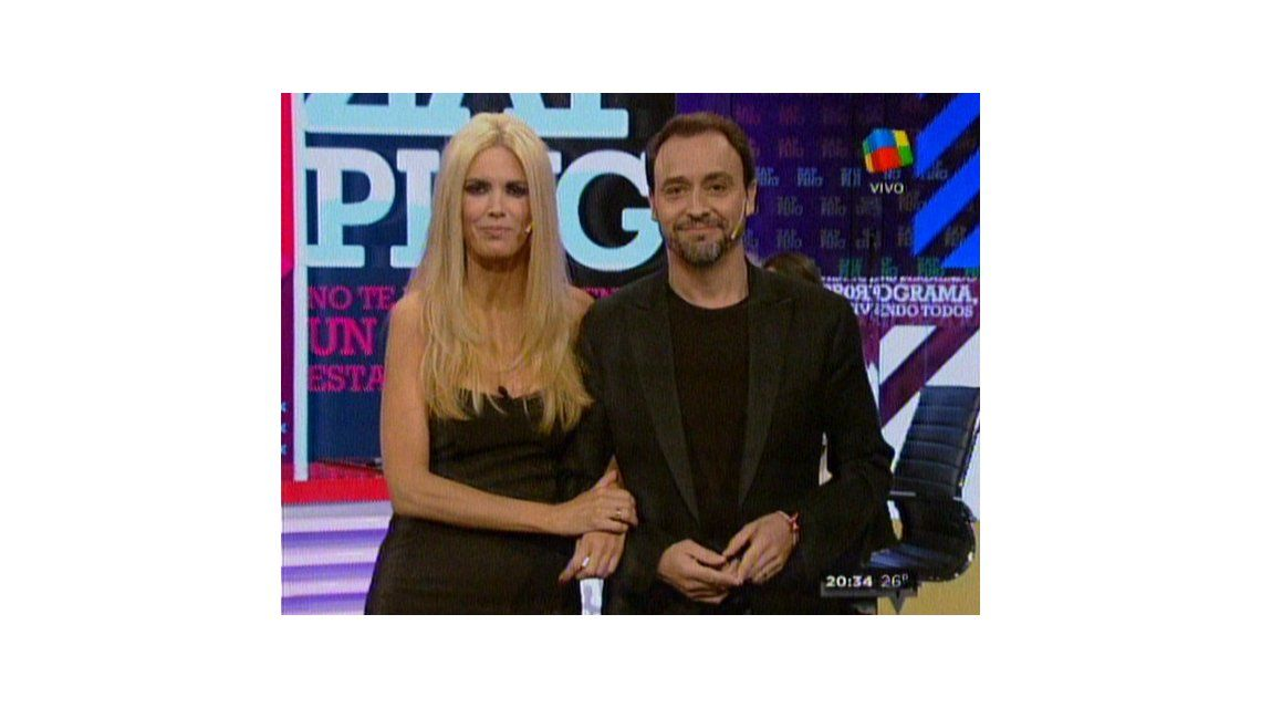 Viviana Canosa y Adrián Pallares se reencontraron en Zapping, después de casi dos años