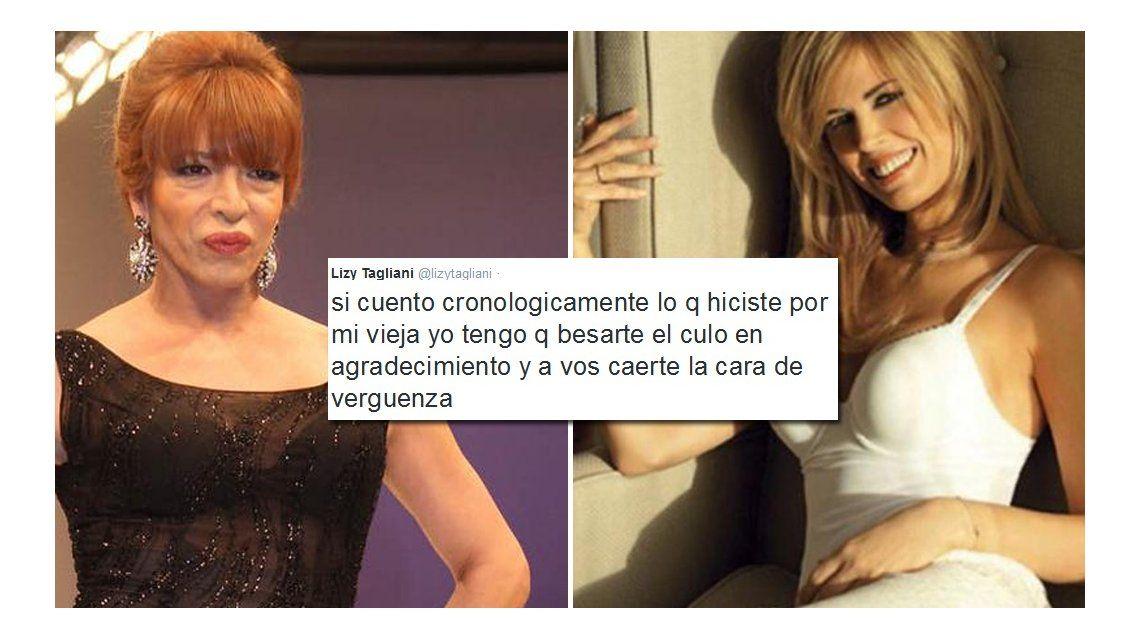 Viviana Canosa dijo que Lizy Tagliani habla huevadas y ella le contestó con todo en Twitter